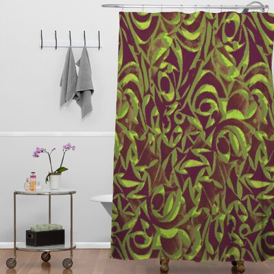 Wagner Campelo Abstract Garden Shower Curtain Color: Brown Abstract Garden 2