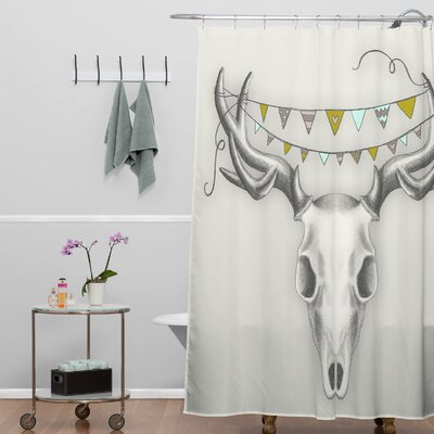 Wesley Bird Skull Shower Curtain