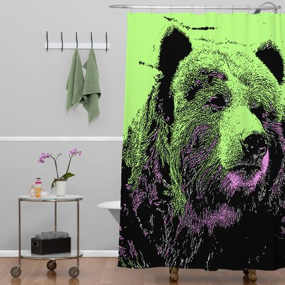 Romi Vega Bear Shower Curtain