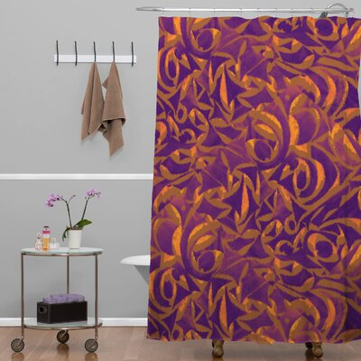 Wagner Campelo Abstract Garden Shower Curtain Color: Purple Abstract Garden 1