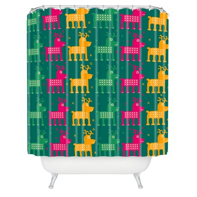 Gabriela Larios Reindeers Shower Curtain