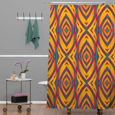 Wagner Campelo Maranta Shower Curtain Color: Yellow Maranta 2