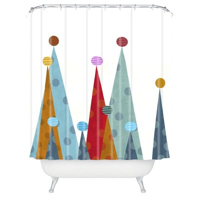 Brian Buckley Winter Peaks Shower Curtain