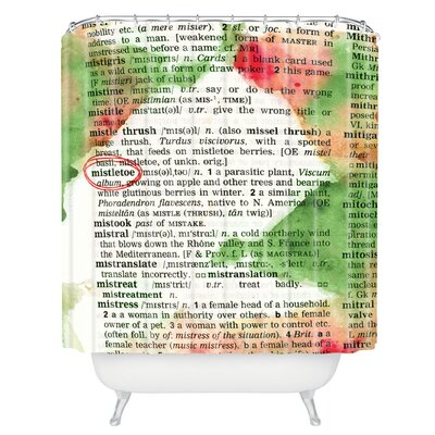 Susanne Kasielke Mistletoe Dictionary Art Shower Curtain
