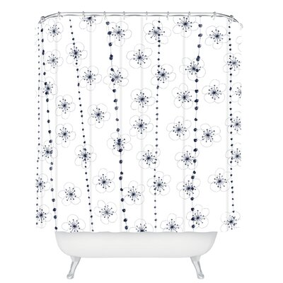 Ali Benyon Flower Waterfall Shower Curtain