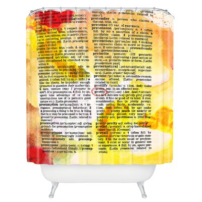 Susanne Kasielke Pretty Dictionary Art Shower Curtain