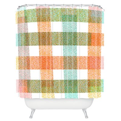Zoe Wodarz Pastel Plaid Shower Curtain