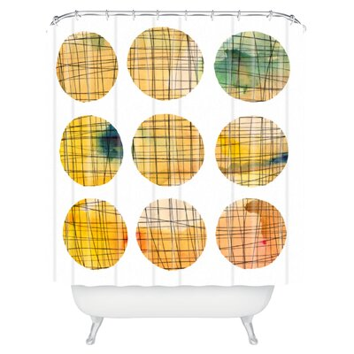 Susanne Kasielke Squared Circle Shower Curtain