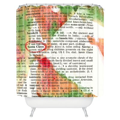 Susanne Kasielke Santa Claus Dictionary Art Shower Curtain
