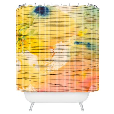 Susanne Kasielke Stripy Collage Shower Curtain