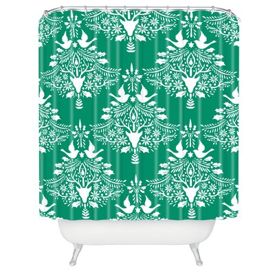 Jacqueline Maldonado Christmas Paper Cutting Shower Curtain