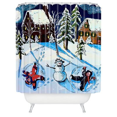 Renie Britenbucher Snow Angels Shower Curtain