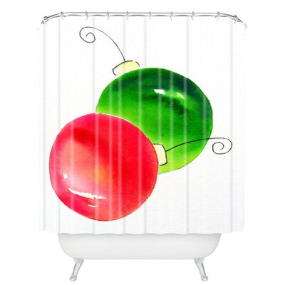 Laura Trevey Deck The Halls Shower Curtain