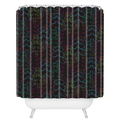 Zoe Wodarz Forest Neon Lights Shower Curtain