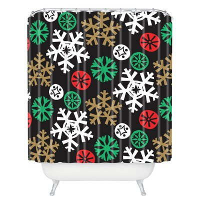 Zoe Wodarz Cozy Cabin Snowflakes Shower Curtain