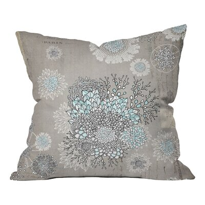 Square Floral Throw Pillow Size: 16 x 16