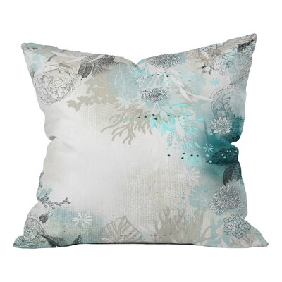 Seafoam Throw Pillow Size: Medium