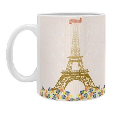 DENY Designs Jennifer Hill Paris Eiffel Tower Coffee Mug 16391-MUGSMA