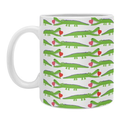 DENY Designs Andi Bird Alligator Love Coffee Mug 13628-MUGSMA