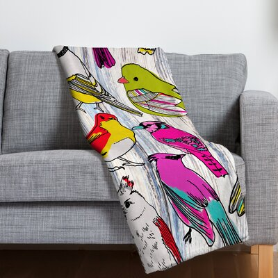 Mary Beth Freet Couture Home Birds Throw Blanket Size: 40 H x 30 W