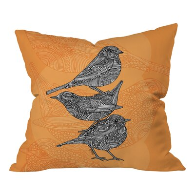 Valentina Ramos 3 Little Birds  Throw Pillow Size: 18 H x 18 W