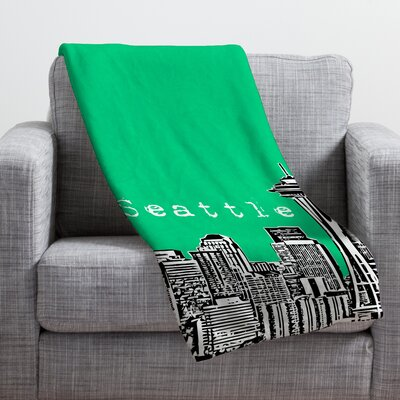Bird Ave Seattle Throw Blanket Color: Green, Size: Small