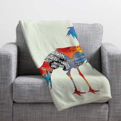 Iveta Abolina Bluebird Throw Blanket Size: Small