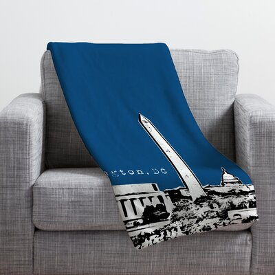 Bird Ave Washington Throw Blanket Color: Navy, Size: Small