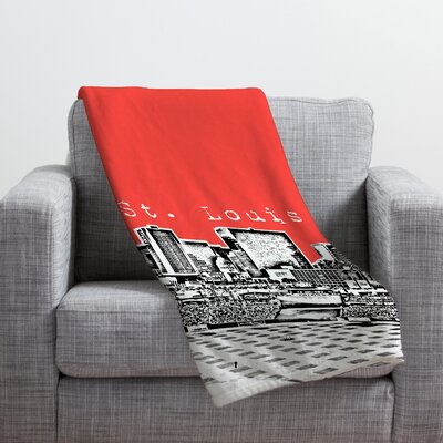 Bird Ave St Louis Throw Blanket Size: Medium, Color: Red