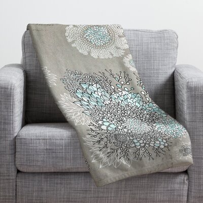 Iveta Abolina French Blue Throw Blanket Size: Medium
