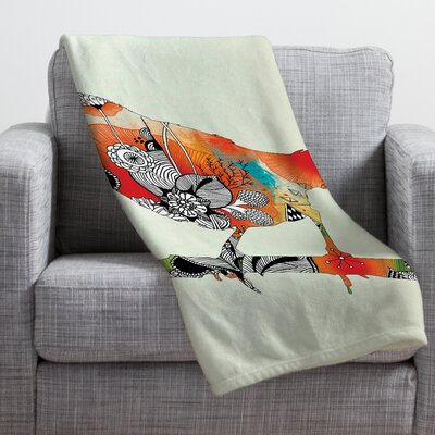 Iveta Abolina Little Bird Throw Blanket Size: Medium