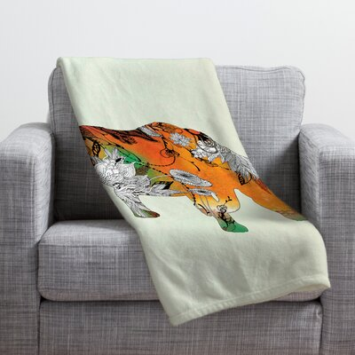 Rhino Throw Blanket Size: Large