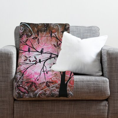 Madart Inc. Cherry Blossoms Throw Blanket Size: Medium