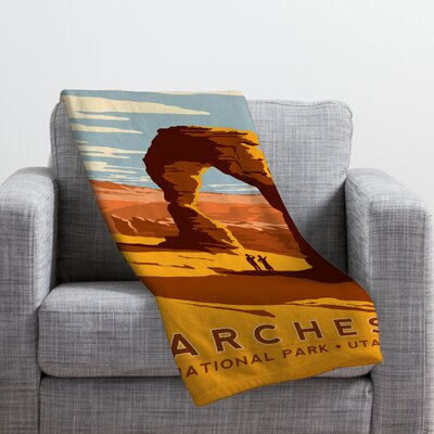 Anderson Design Group Arches Throw Blanket Size: Large