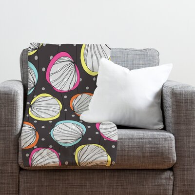 Rachael Taylor Scribble Shells Throw Blanket Size: Medium