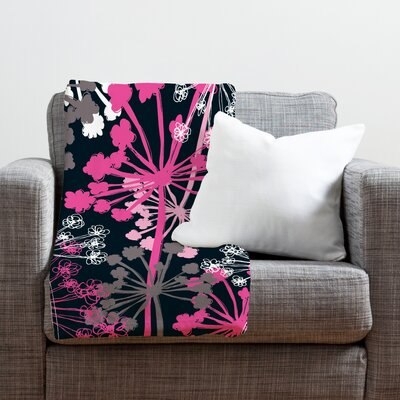Rachael Taylor Cow Parsley Throw Blanket Size: Medium
