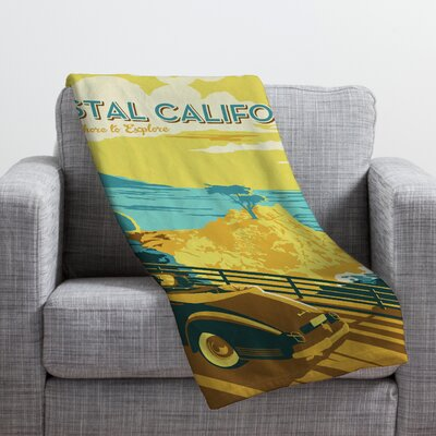 Anderson Design Group Coastal California Throw Blanket Size: Medium