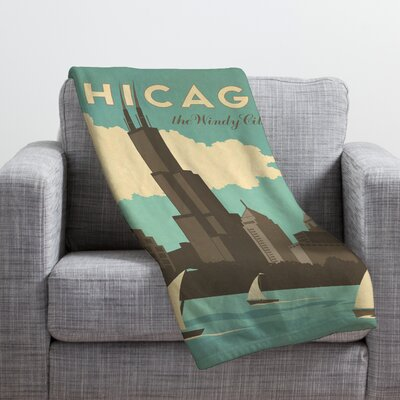 Anderson Design Group Chicago Throw Blanket Size: Large