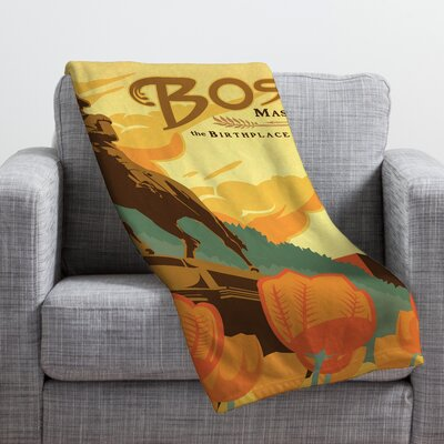 Anderson Design Group Boston Throw Blanket Size: Large