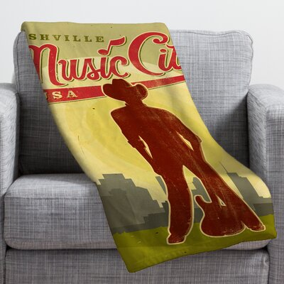 Anderson Design Group Music City Throw Blanket Size: Large