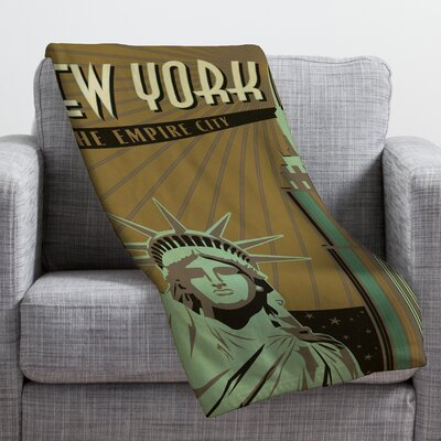 Anderson Design Group New York Throw Blanket Size: Small
