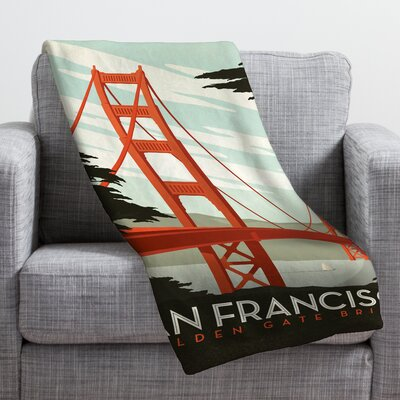 Anderson Design Group San Francisco Throw Blanket Size: Medium