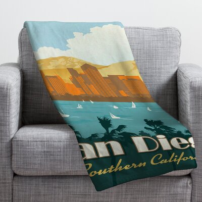 Anderson Design Group San Diego Throw Blanket Size: Medium