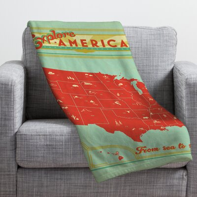 Anderson Design Group Explore America Throw Blanket Size: Small
