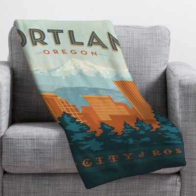 Anderson Design Group Portland Throw Blanket Size: Small