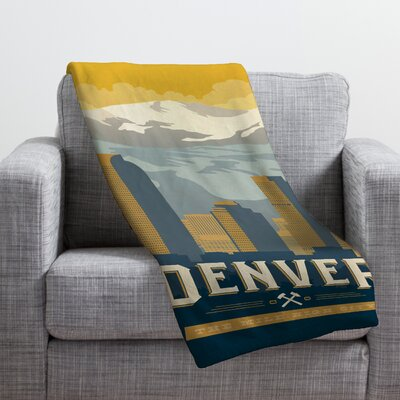 Anderson Design Group Denver 1 Throw Blanket Size: Large