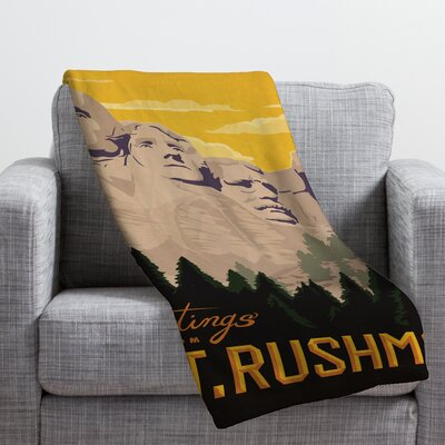 Anderson Design Group Nount Rushmore Throw Blanket Size: Medium