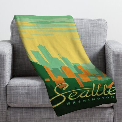Anderson Design Group Seattle Throw Blanket Size: Large