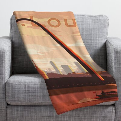 Anderson Design Group Saint Louis Throw Blanket Size: Small