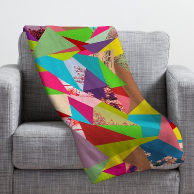 Bianca Green Colorful Thoughts Throw Blanket Size: Small